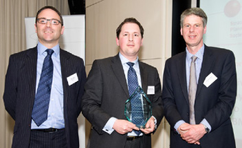 Strategic Report Accolades, James Black, Addison Group, Sponsor, Douglas Radcliffe, Lloyds Banking Group, Winner, Professor Richard Whittington, Keynote speaker and Presenter
